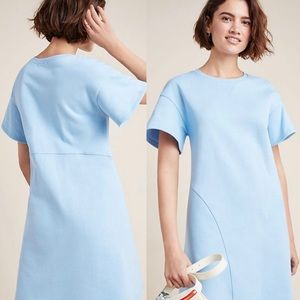 NWT $98 Anthropologie Blue Sweatshirt Dress M